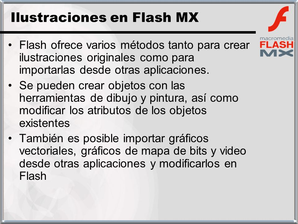 Ilustraciones en Flash MX