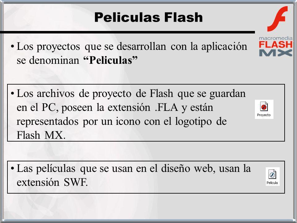 Peliculas Flash Los proyectos que se desarrollan con la aplicación se denominan Peliculas