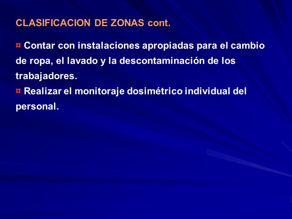 CLASIFICACION DE ZONAS cont.