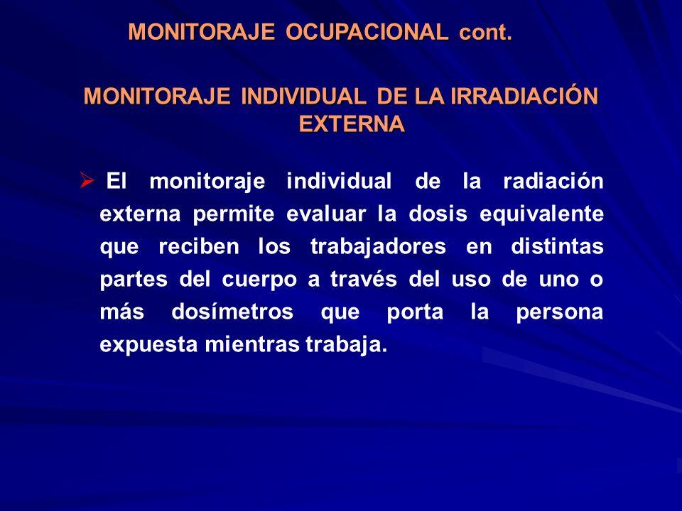 MONITORAJE INDIVIDUAL DE LA IRRADIACIÓN EXTERNA