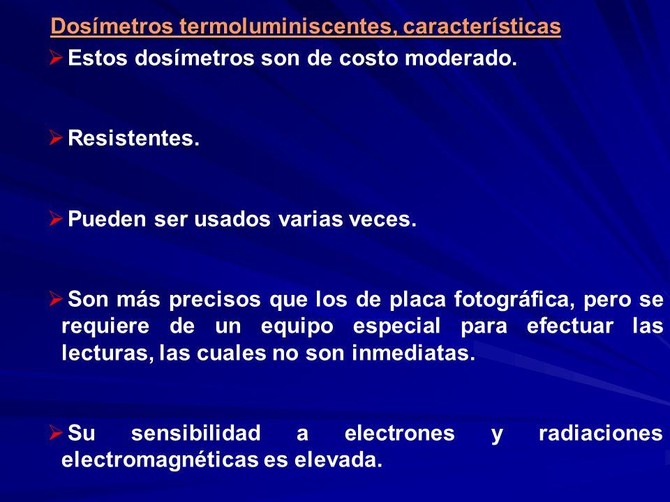 Dosímetros termoluminiscentes, características