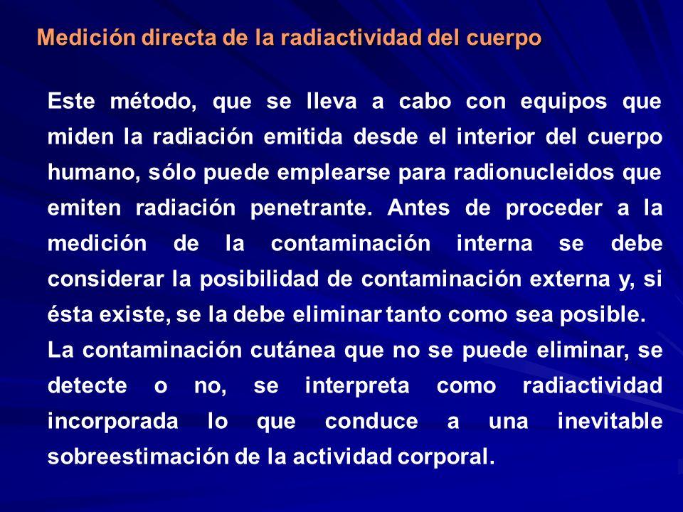 Medición directa de la radiactividad del cuerpo