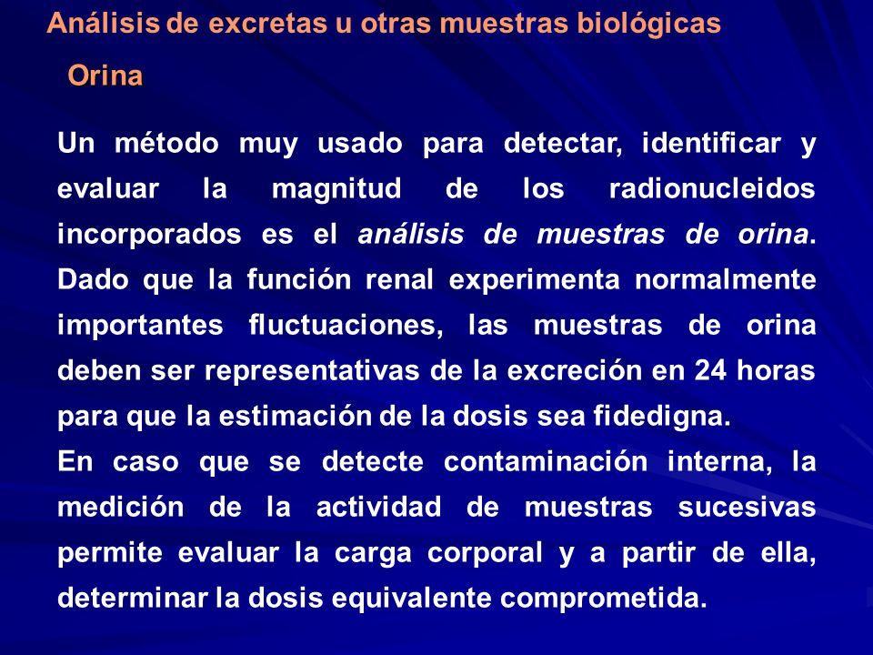 Análisis de excretas u otras muestras biológicas