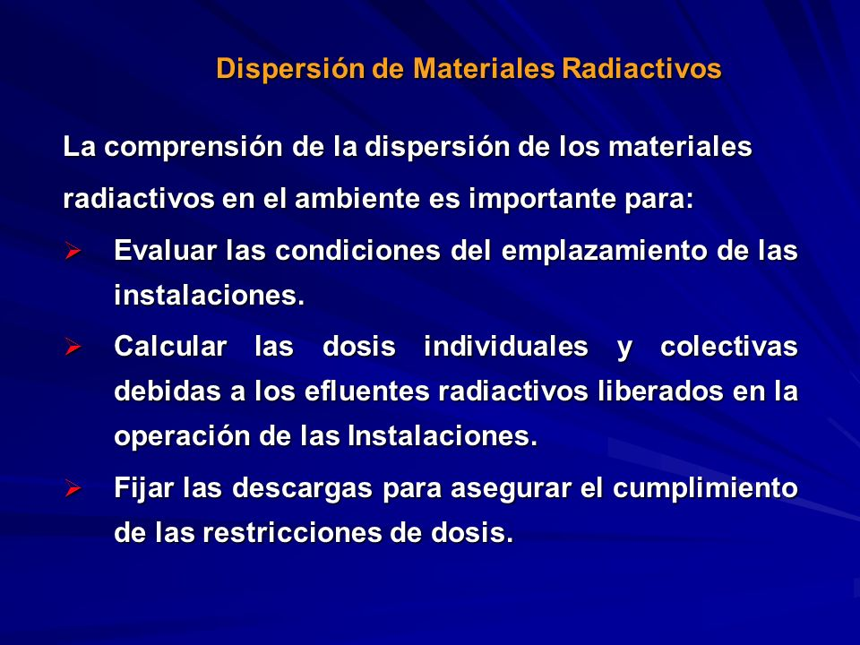 Dispersión de Materiales Radiactivos