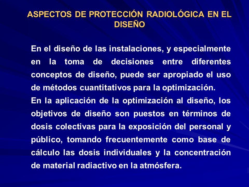 ASPECTOS DE PROTECCIÓN RADIOLÓGICA EN EL DISEÑO