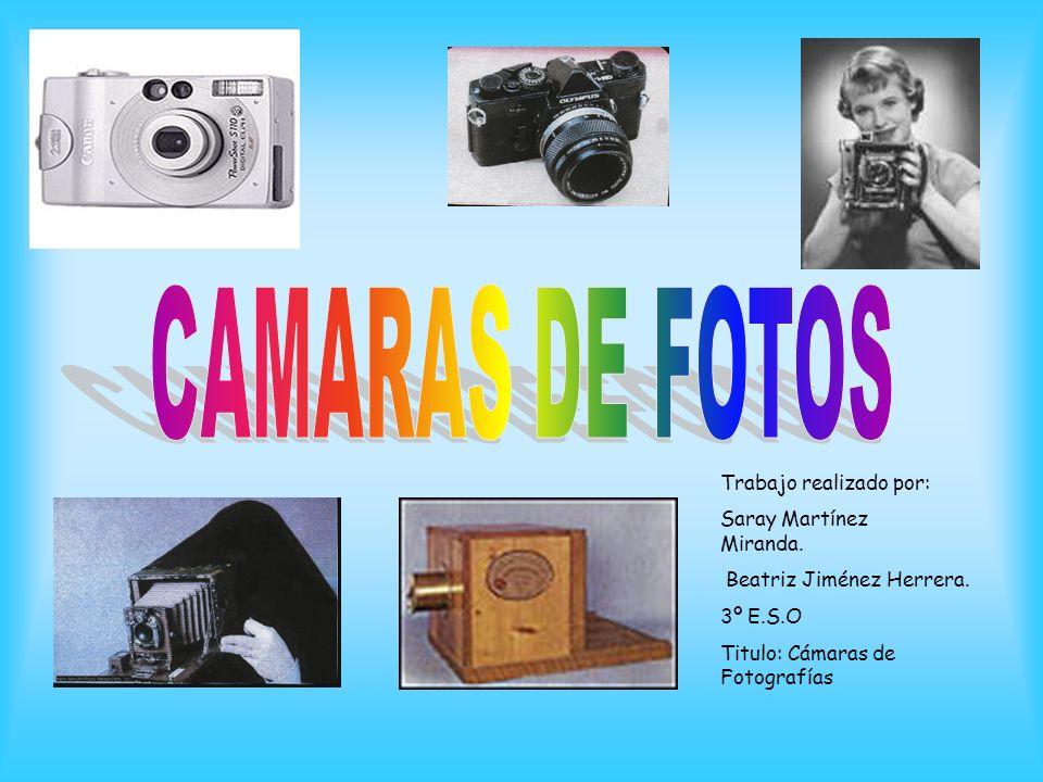 CAMARAS DE FOTOS Trabajo realizado por: Saray Martínez Miranda.