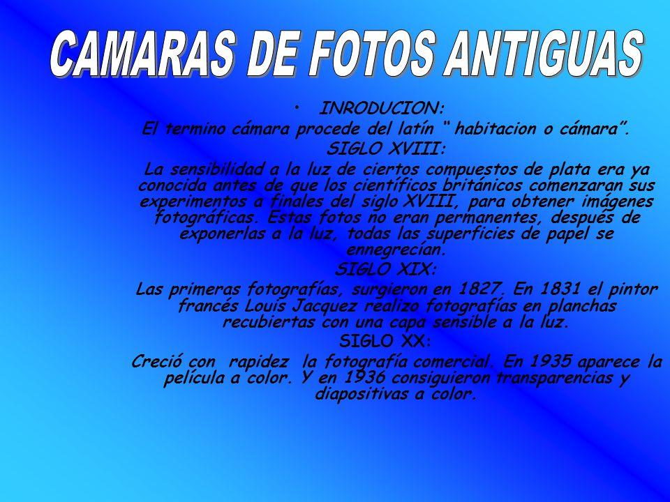 CAMARAS DE FOTOS ANTIGUAS