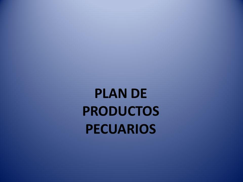 PLAN DE PRODUCTOS PECUARIOS