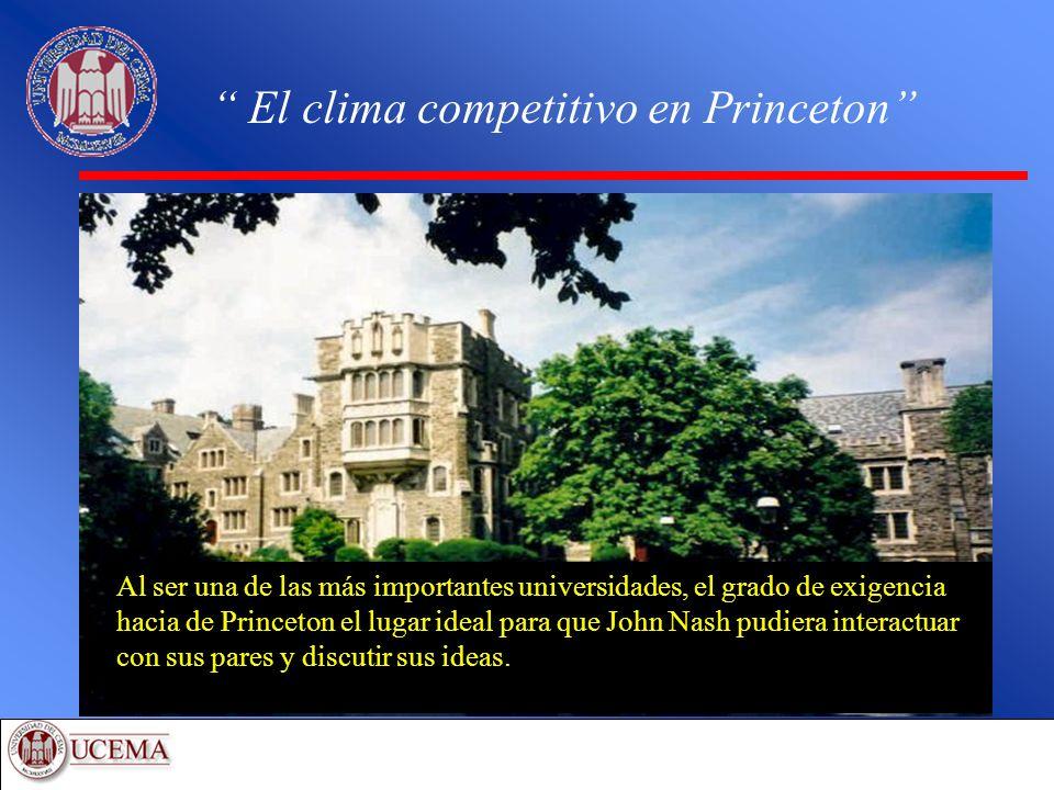 El clima competitivo en Princeton