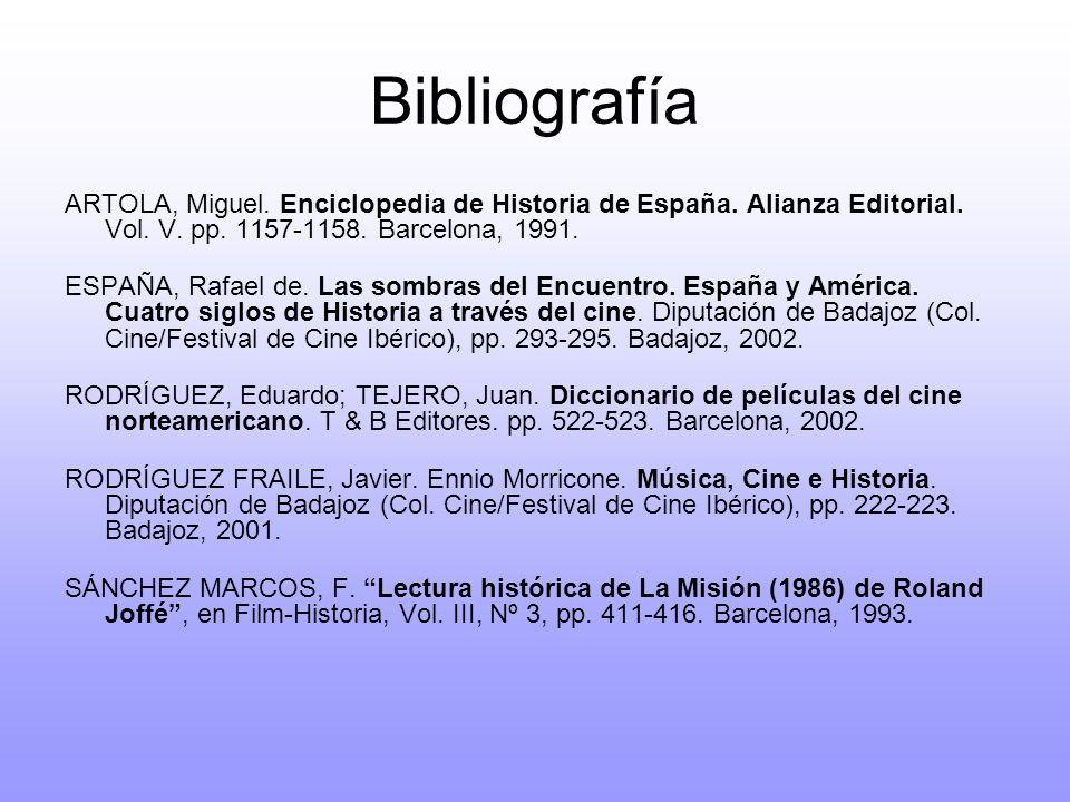 Bibliografía ARTOLA, Miguel. Enciclopedia de Historia de España. Alianza Editorial. Vol. V. pp. 1157-1158. Barcelona, 1991.