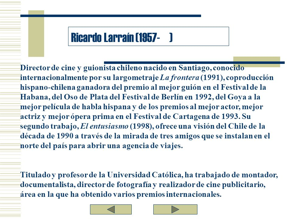Ricardo Larraín (1957- )