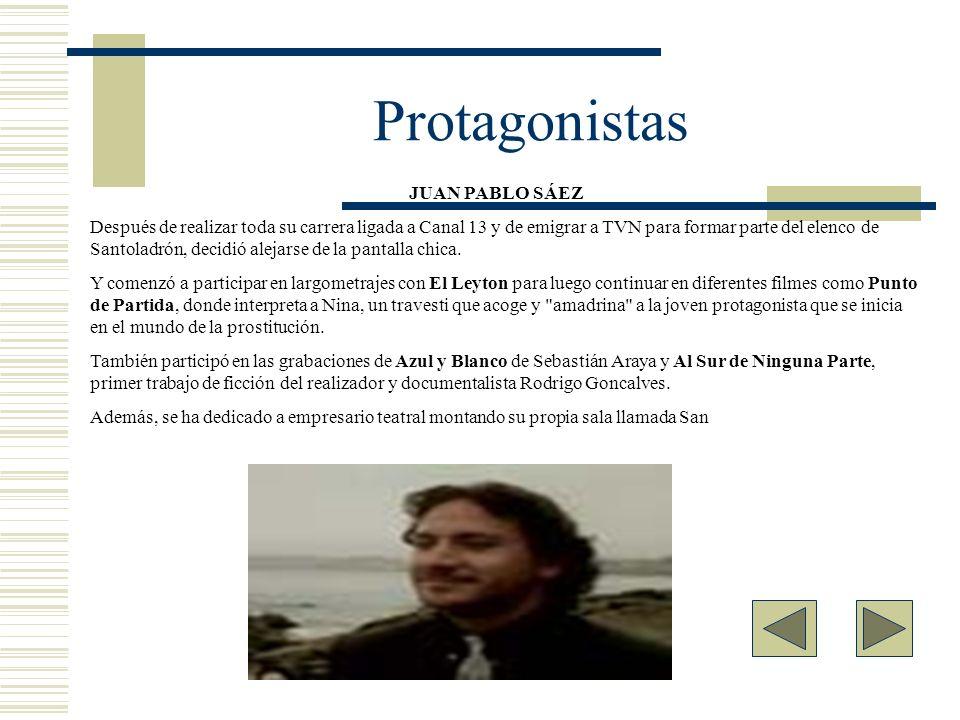 Protagonistas JUAN PABLO SÁEZ.