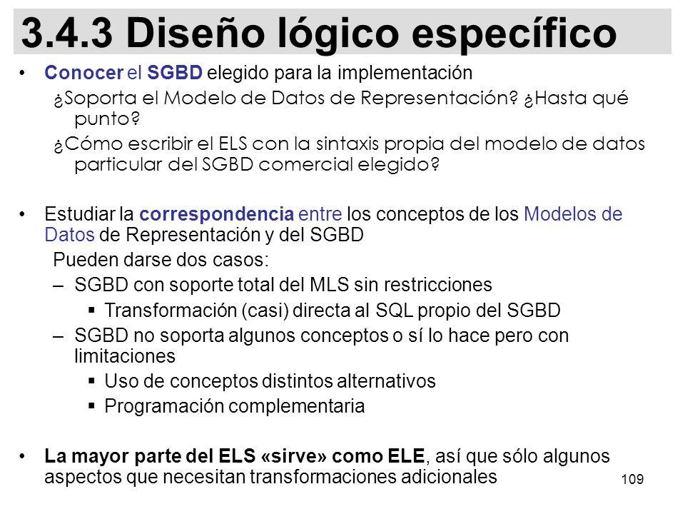 3.4.3 Diseño lógico específico