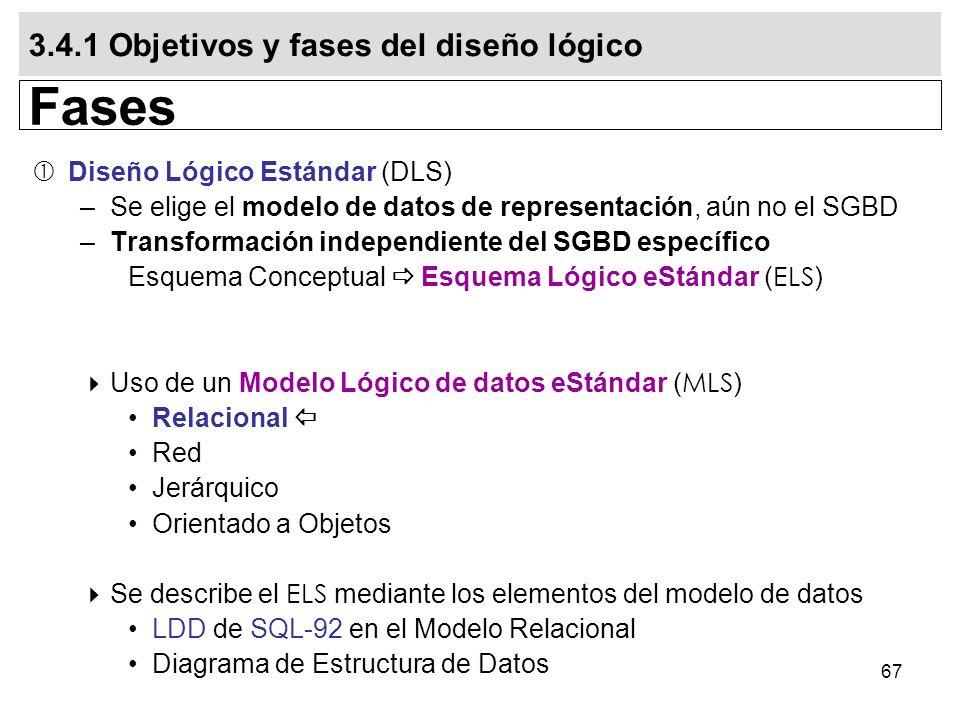 Fases 3.4.1 Objetivos y fases del diseño lógico