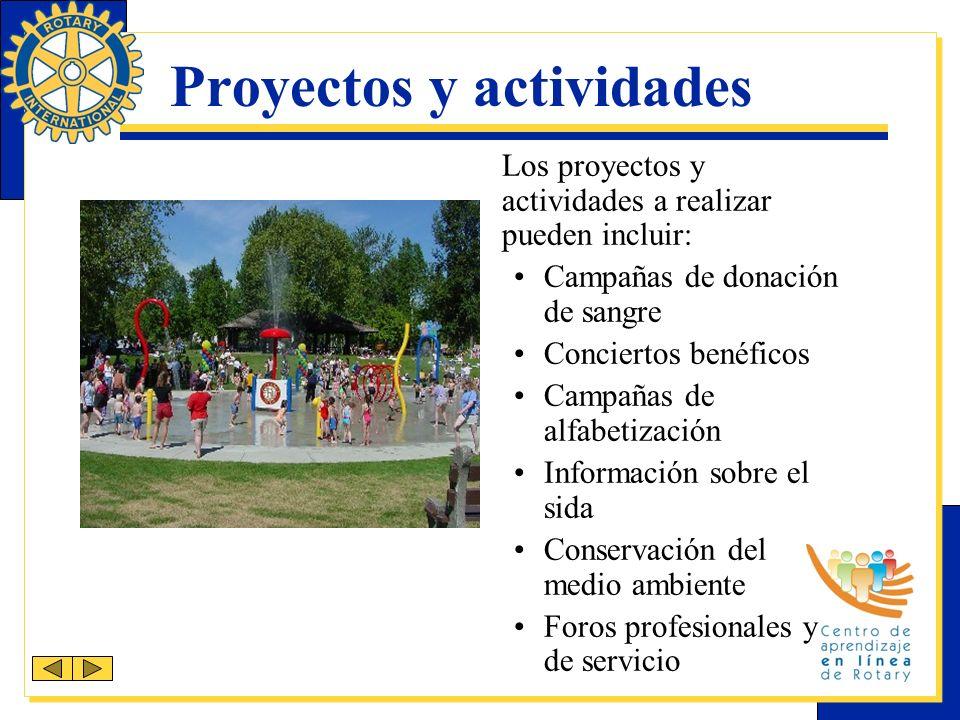 Proyectos y actividades