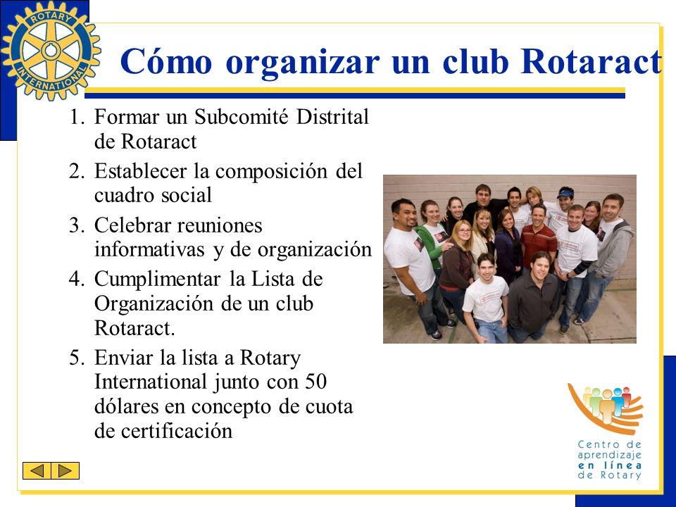 Cómo organizar un club Rotaract