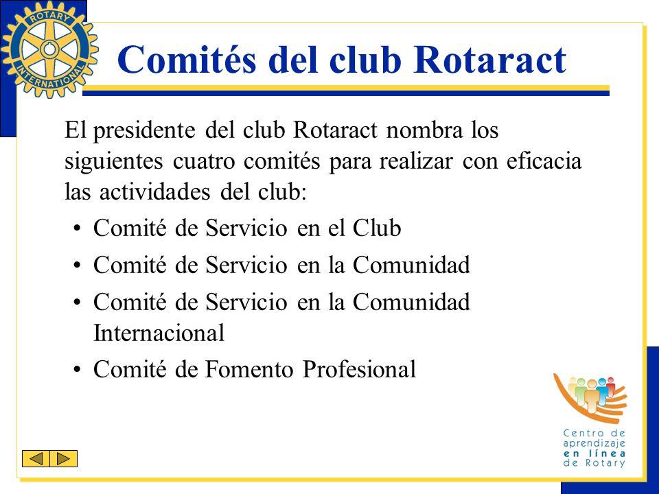 Comités del club Rotaract
