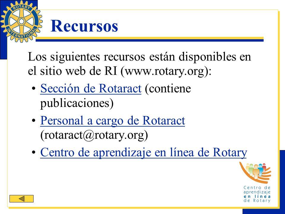 Recursos Sección de Rotaract (contiene publicaciones)