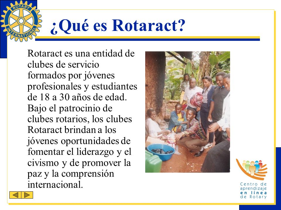 ¿Qué es Rotaract