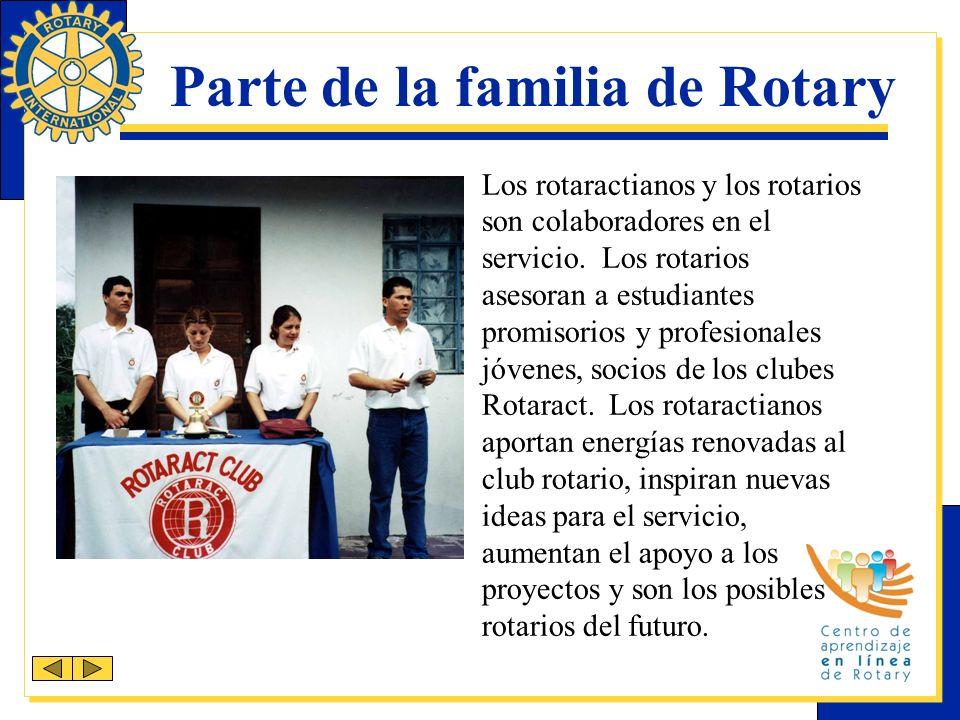 Parte de la familia de Rotary