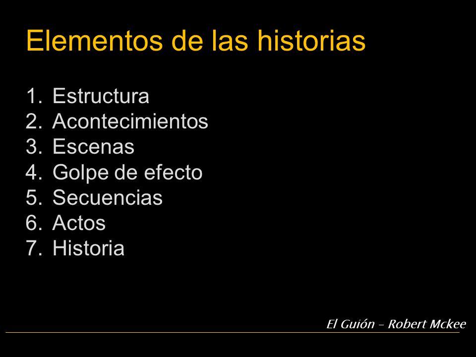 Elementos de las historias