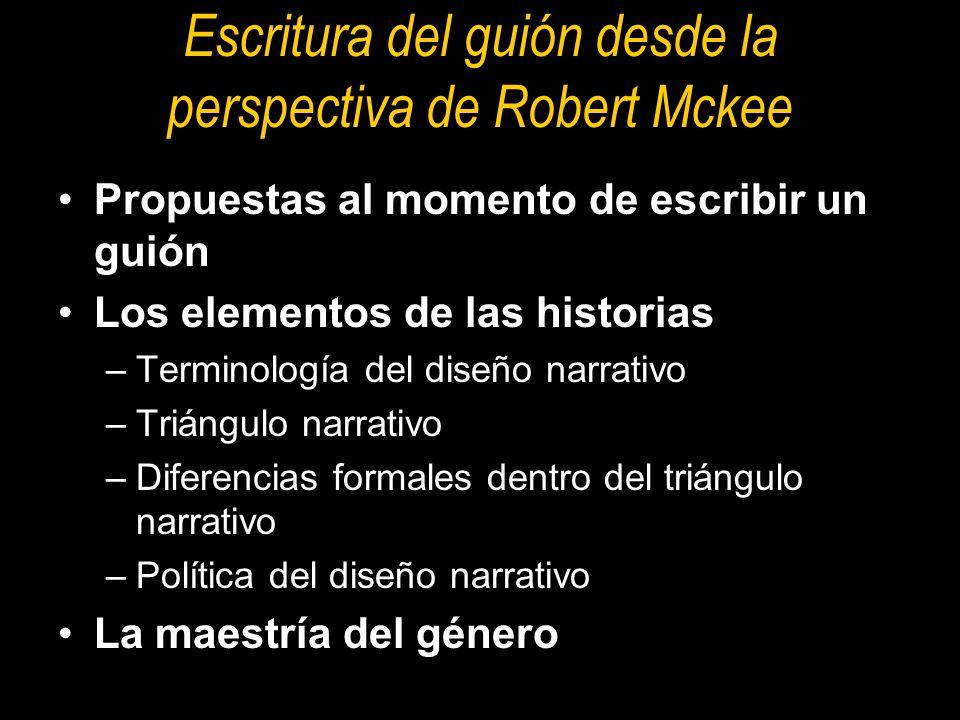 Escritura del guión desde la perspectiva de Robert Mckee