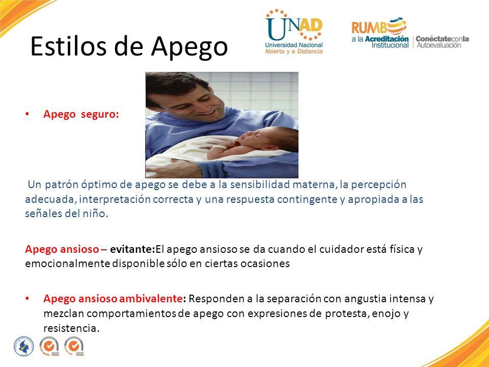 Estilos de Apego Apego seguro: