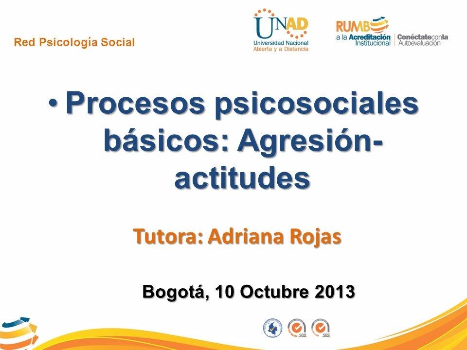 Procesos psicosociales básicos: Agresión- actitudes