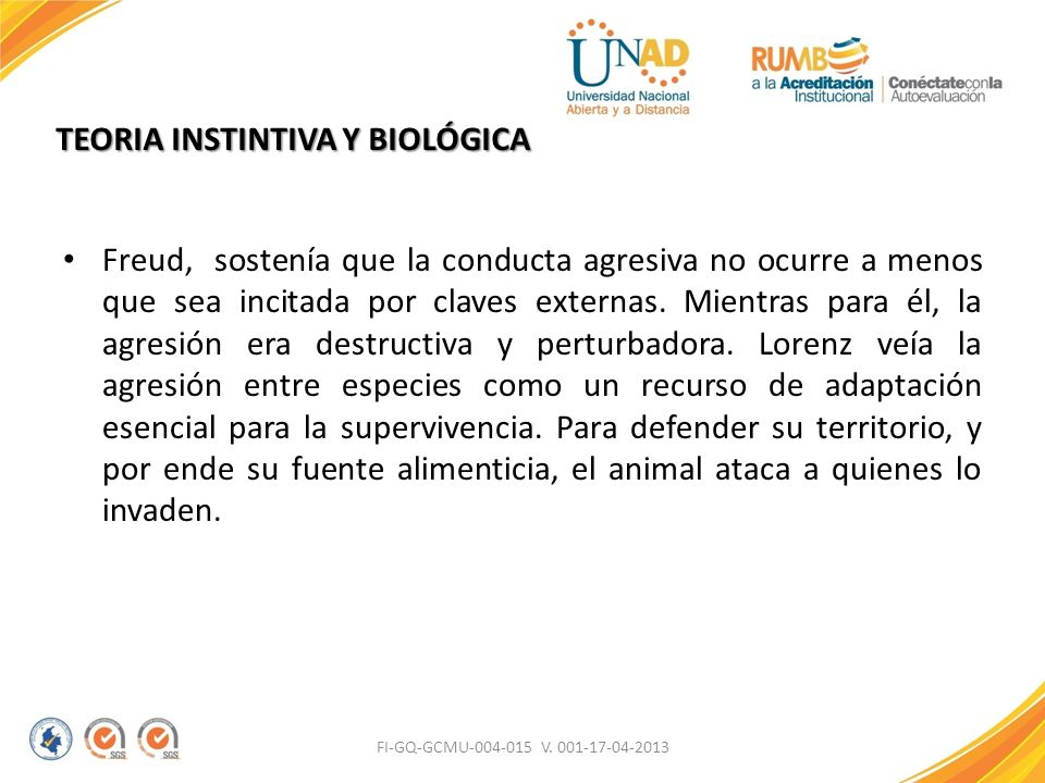 TEORIA INSTINTIVA Y BIOLÓGICA