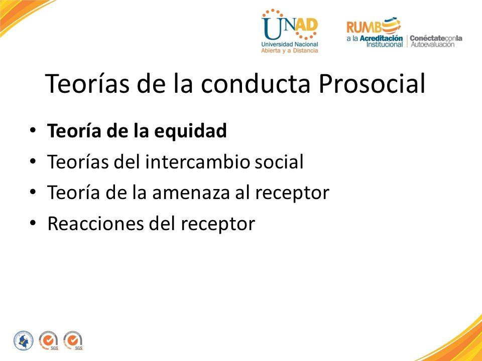 Teorías de la conducta Prosocial
