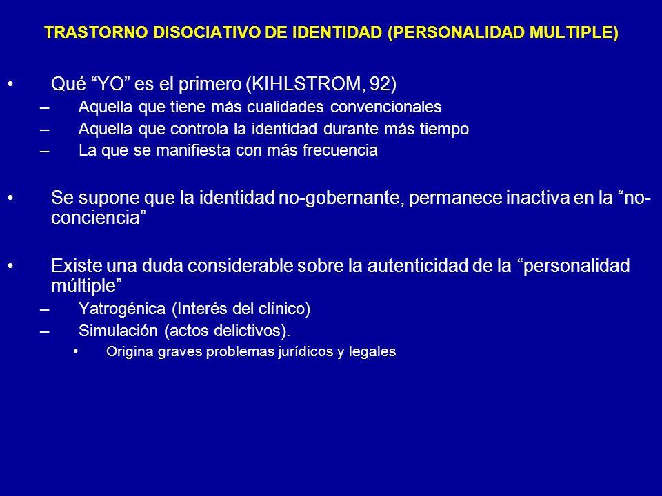 TRASTORNO DISOCIATIVO DE IDENTIDAD (PERSONALIDAD MULTIPLE)