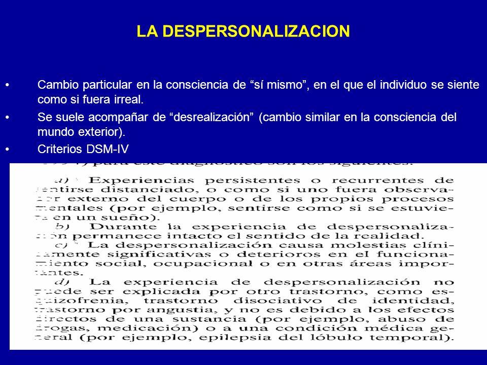 LA DESPERSONALIZACION