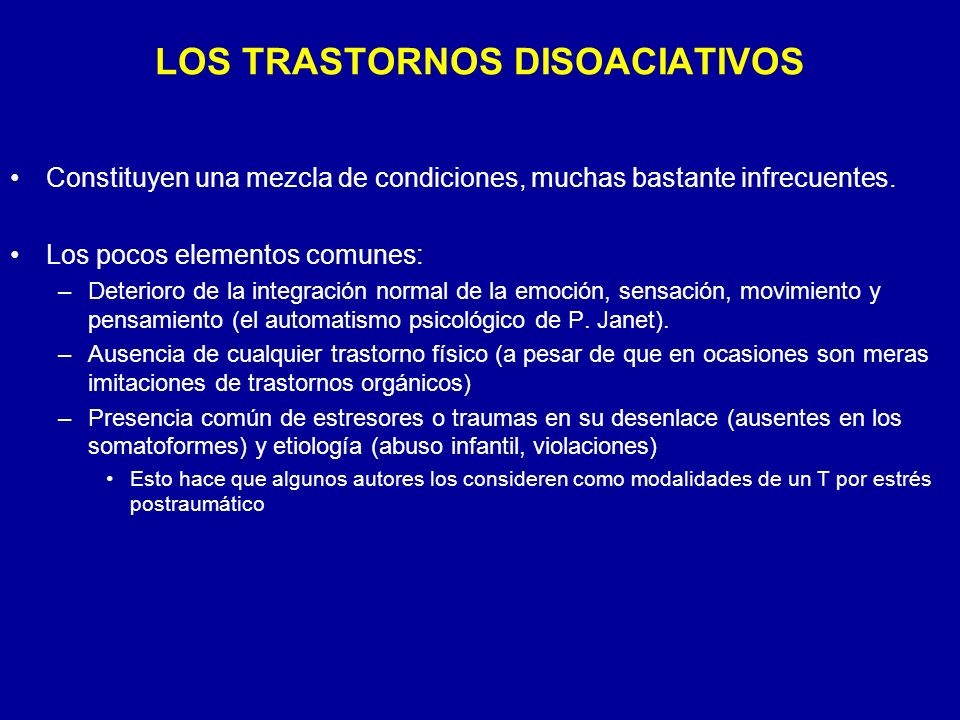LOS TRASTORNOS DISOACIATIVOS