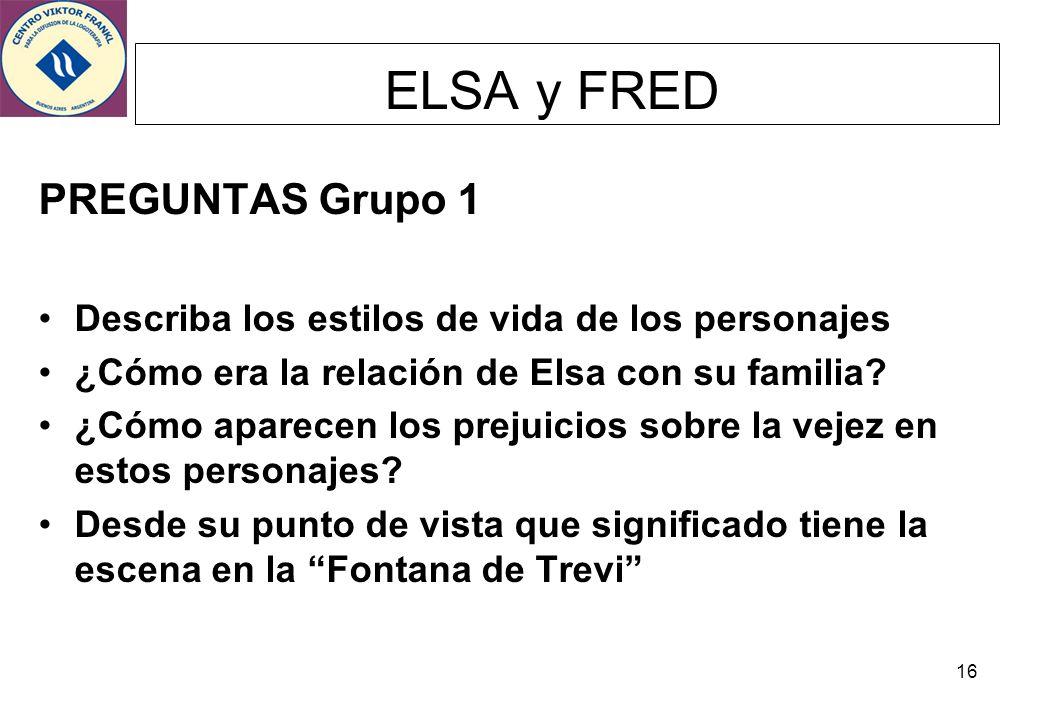 ELSA y FRED PREGUNTAS Grupo 1