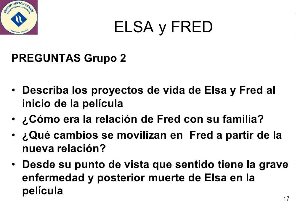 ELSA y FRED PREGUNTAS Grupo 2