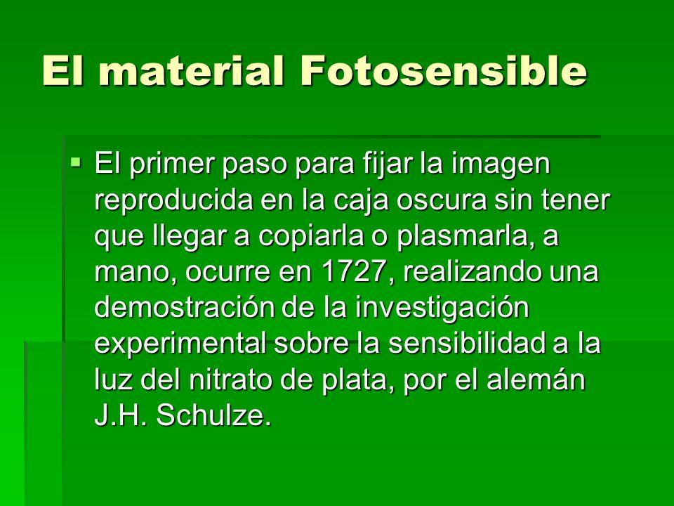 El material Fotosensible