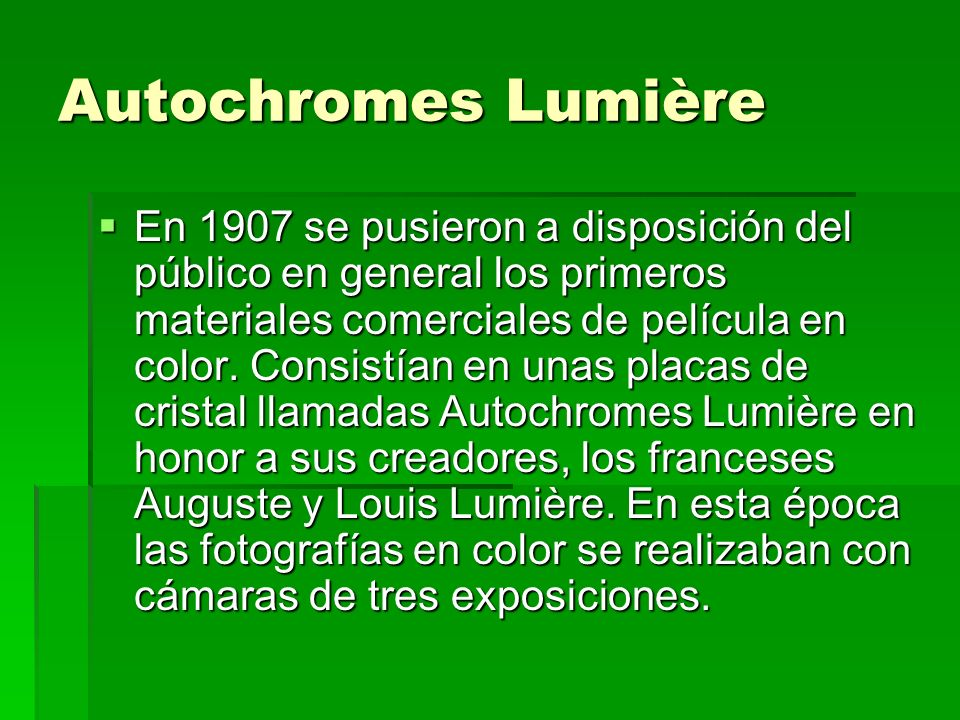 Autochromes Lumière