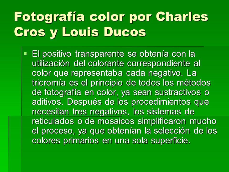 Fotografía color por Charles Cros y Louis Ducos