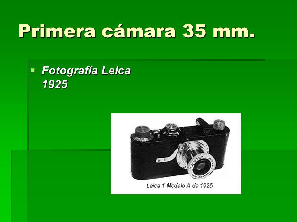 Primera cámara 35 mm. Fotografía Leica 1925
