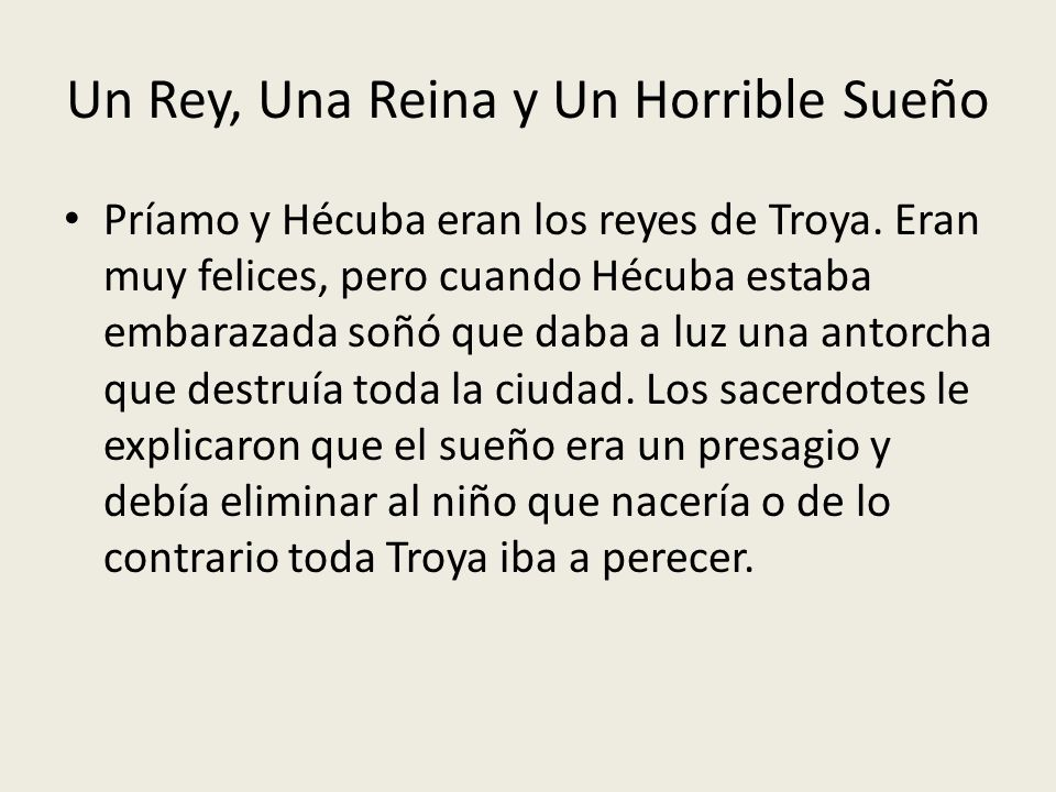 Un Rey, Una Reina y Un Horrible Sueño
