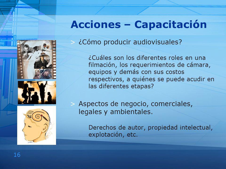 Acciones – Capacitación