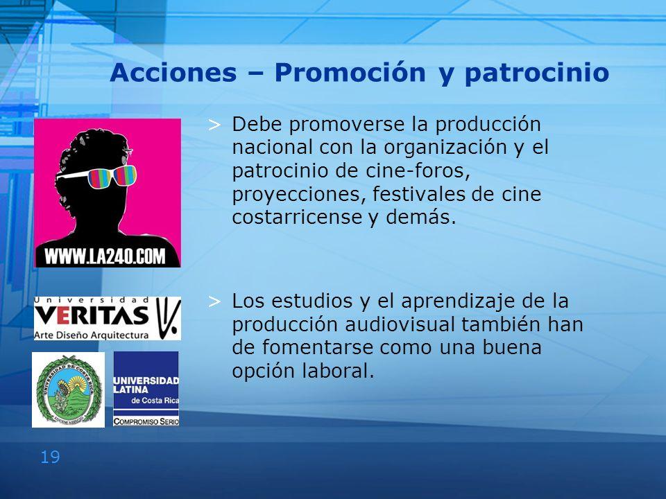 Acciones – Promoción y patrocinio