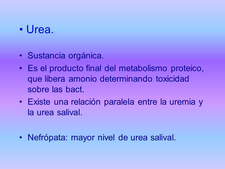 Urea. Sustancia orgánica.