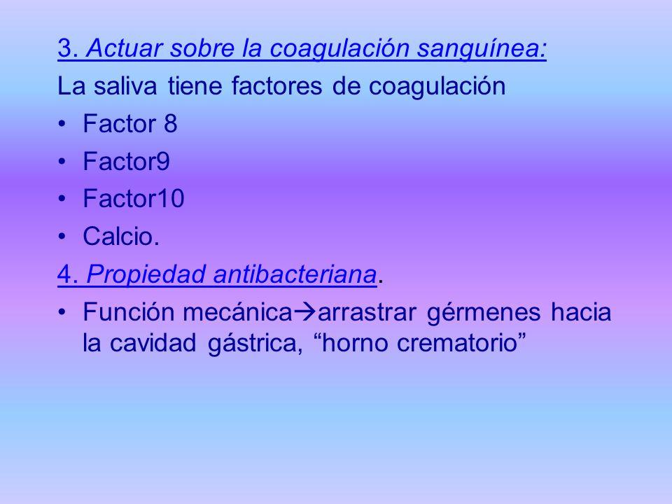 3. Actuar sobre la coagulación sanguínea: