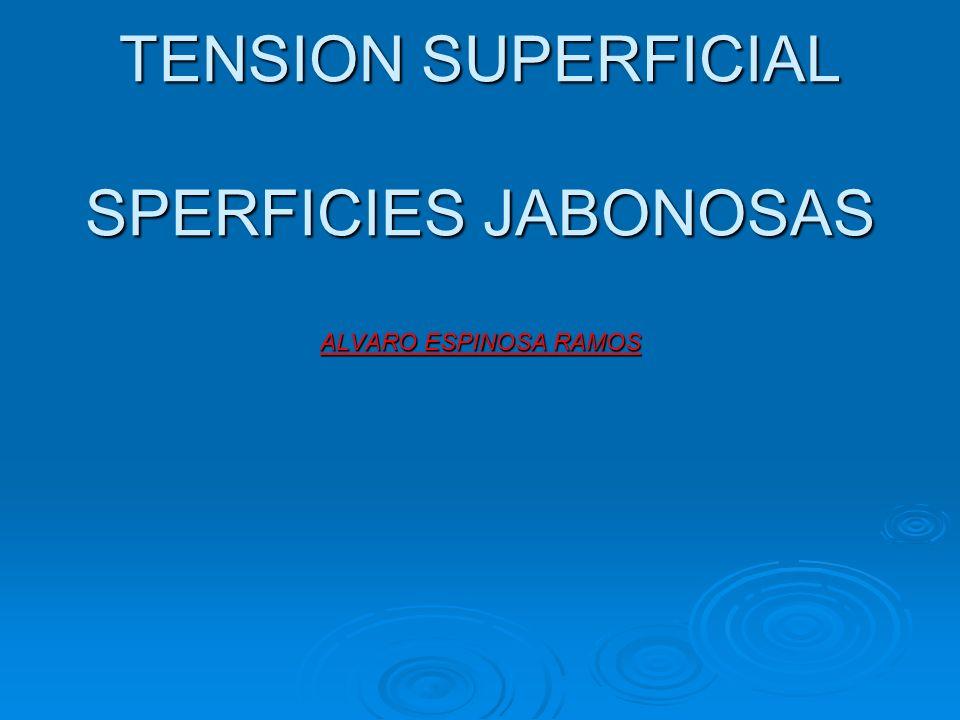 TENSION SUPERFICIAL SPERFICIES JABONOSAS ALVARO ESPINOSA RAMOS