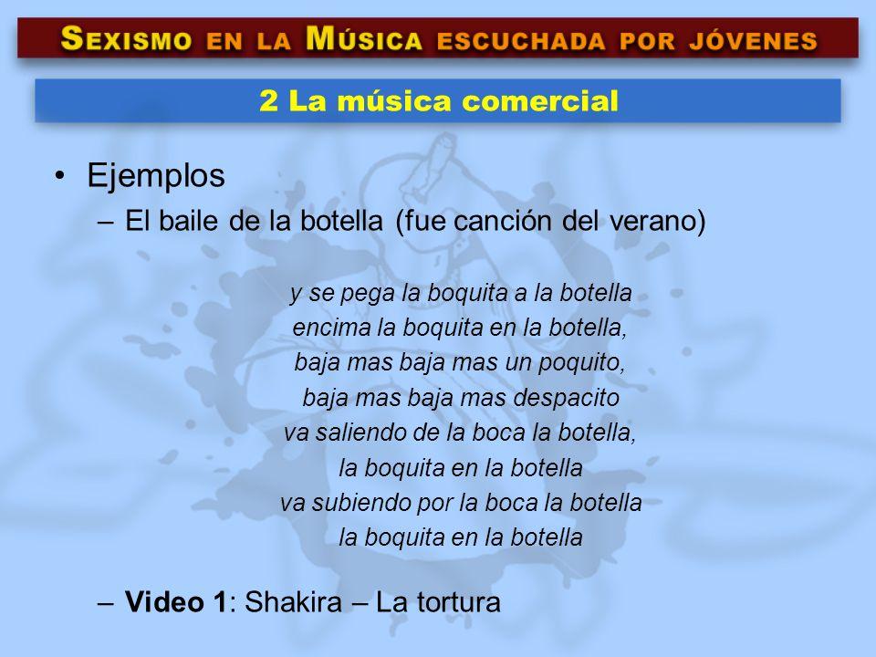 Ejemplos 2 La música comercial