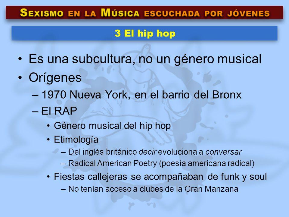 Es una subcultura, no un género musical Orígenes