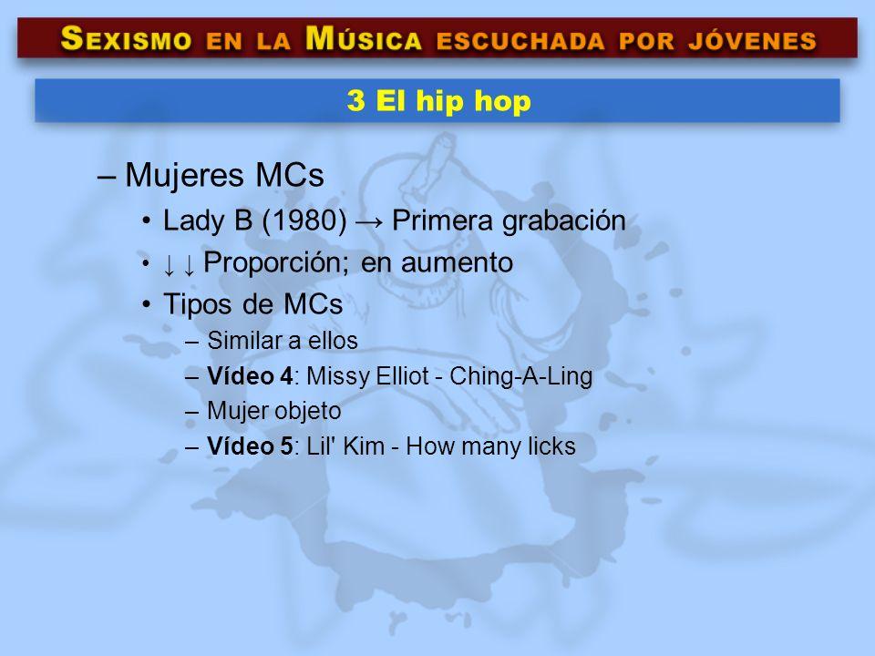 Mujeres MCs 3 El hip hop Lady B (1980) → Primera grabación