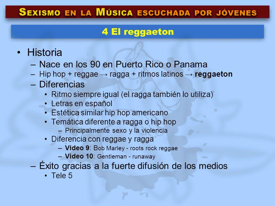 Historia 4 El reggaeton Nace en los 90 en Puerto Rico o Panama