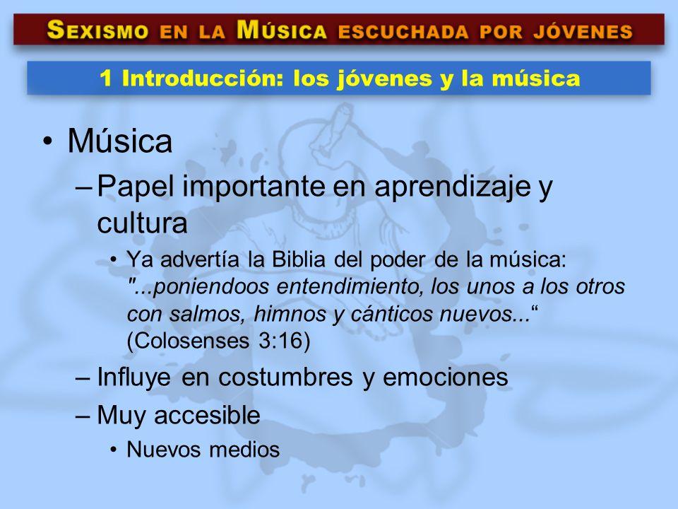 1 Introducción: los jóvenes y la música